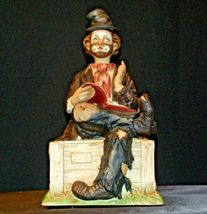 Porcelain Clown with Bisque finish resting on a Bench AA-191925 Collectible image 6