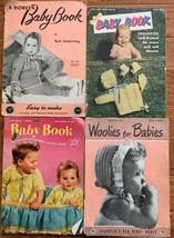 Lot 4 Vintage BABY Crochet Knit Pattern Books Star Coats Clark's Doreen - $5.00