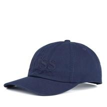 Hugo Boss Orange Men's Cotton Casual Embroidered Dad Hat Cap Navy Blue