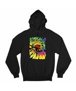 Peace Out Sweatshirt Neon Hippie Van Trippy 420 Marijuana Smoking Hoodie - $25.66+