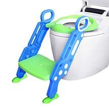 Ganowo Potty Training Toilet Seat with Step Stool Ladder, Adjustable Baby Traine