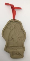 80s Brown Bag Cookie Press Santa Bag Of Presents Craft Food Mold Christmas USA - $19.55