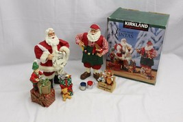Kirkland Fabric Mache Santas Elf Toybox Figurines - $42.13