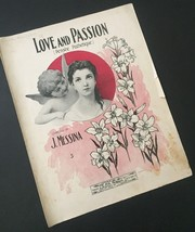 Vtg Love And Passion J Messina Sheet Music Pensee Pathetique Collectible... - $19.79