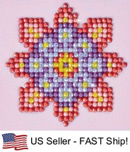 Diamond Dotz Flower Mandala 2 5D Diamond Painting Embroidery Facet Kit - $4.45
