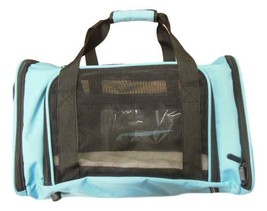 Pet Carrier, Sky Blue, 18 inches x 11 inches x 11 inches image 1