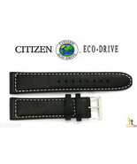 Citizen 59-S53002 22mm Black Leather Watch Band Strap AW1361-01E 4-S090822  - $59.95