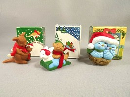 Avon Christmas Ornaments Nestled Together Hoppy Holidays Winter Pals 198... - $31.68