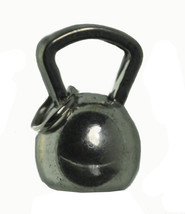 NICE Kettlebell Sterling Silver .925 Charm exercise cardiovascular strength trai - $11.56