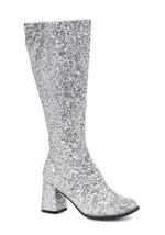 "Ellie 3"" Glitter Silver Gogo Dancer Womens Costume Heels Shoes Boots GOG... - $51.39"