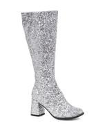 "Ellie 3"" Glitter Silver Gogo Dancer Womens Costume Heels Shoes Boots GOG... - $48.95"