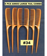 "(6 PCS) ANNIE LARGE TAIL COMB #34 BIG WIDE TOOTH COMB 11""x 1.75"" - $4.94"