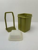 Vintage Tupperware Pick A Deli Small 1L Pickle Keeper Avocado Green 3 Piece 1330 - $19.55