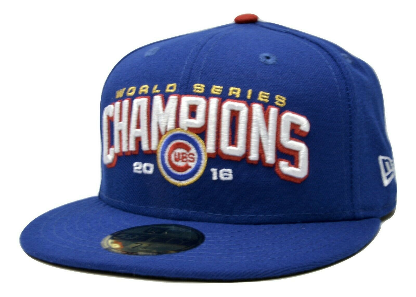 Primary image for Chicago Cubs New Era 59FIFTY MLB World Series Champions Fitted Cap Hat 7 3/8