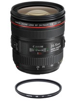 CANON EF 24-70mm F4L IS USM (White box) + HOYA UX UV 77mm Filter - $939.76