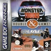 2 Games In 1 - Monster Trucks & Quad Desert Fury (Nintendo Game Boy ADVANCE - $7.39