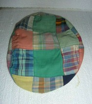 Vintage Stetson Plaid Patch Madras Paper Boy Hat size Small S-18 - $19.34