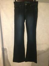 Paris Blues Bootcut Jeans Junior Size 1 Stretch Lowrise Inseam 30 Distre... - $10.64