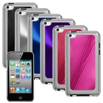 Pink Black Blue Purple Hard Protector Cover Case For iPod Touch 4 4th Ge... - $24.00