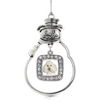 Inspired Silver I Love My Poodle Classic Snowman Holiday Decoration Chri... - $14.69