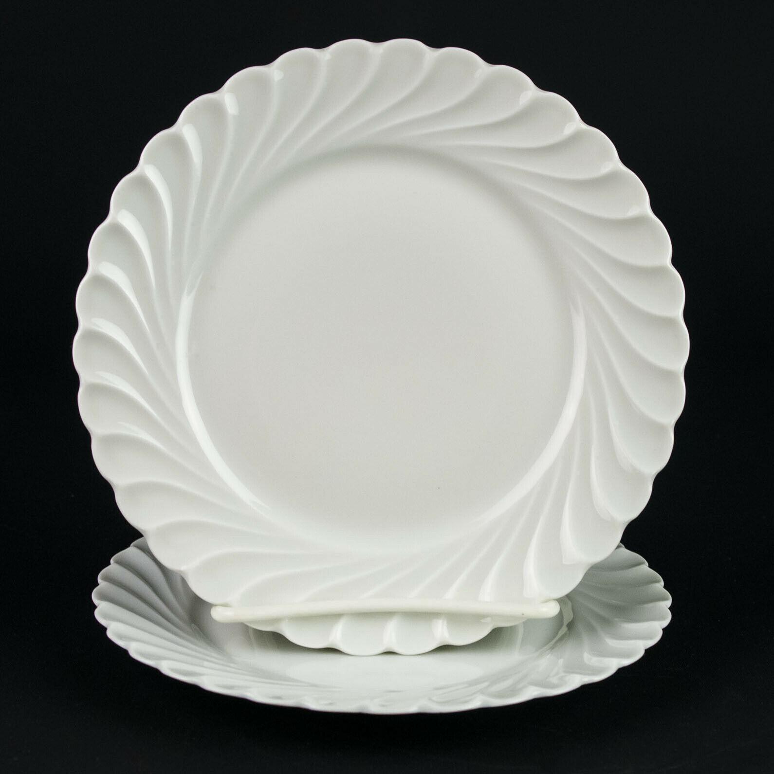 "Haviland Limoges Torse Bread Plates 2 pc Set, Vintage All White Swirl 6 3/8"" - $14.70"