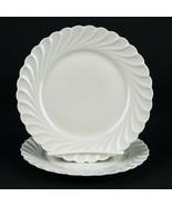 Haviland Limoges Torse Bread Plates 2 pc Set, Vintage All White Swirl 6 ... - $14.70