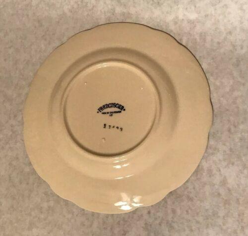 """4 Vintage Franciscan Desert Rose 7 5/8"""" Salad Plate Arch Mark California image 5"""