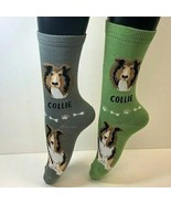 2 PAIRS Foozys Women's Socks COLLIE, Canine Collection, Dog Print, NEW - $8.99