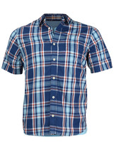 Urban Pipeline Boys Kids Plaid Short Sleeve Casual Dress Shirt /w Free T-Shirt