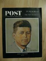 JFK Saturday Evening Post December 14, 1963 - Vintage President John F K... - $59.39