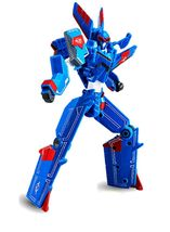 Tobot V Sonic Stealth Action Figure Fighter Plane Transforming Robot Toy image 4