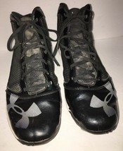 Under Armour Mens Baseball Cleats Size 12-#1235296-001-Blk/Wht SHIPS N 24 HOURS - $24.63