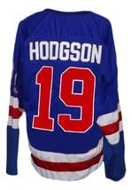 Any Name Number Buffalo Bisons Retro Hockey Jersey Blue Any Size image 2