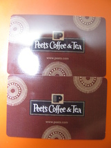 Peet's Coffee & Tea Gift Card Value US$25.00 Use In Stores Or Online New - $22.00