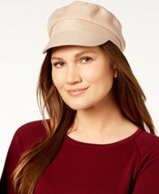 Nine West Cotton Canvas Newsboy Cap (One Size, Dark Beige) - $31.84 CAD