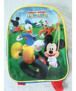 "Disney 10"" Mickey Mouse Club House Backpack Donald Duck Goofy Zip School... - $24.70"