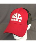 Mac Tools Red Strap Back Hat Trucker Cap Black Mesh NEW - $28.06