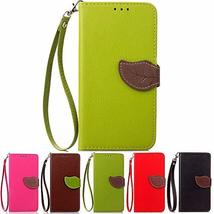 XYX Wallet Case for LG Stylo 3 Plus,Leaf Buckle PU Leather Wrist Strap X... - $9.49