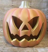 """Vtg Pumpkin Halloween Jack O Lantern Blowmold Light 17 """" Tall - €20,82 EUR"""