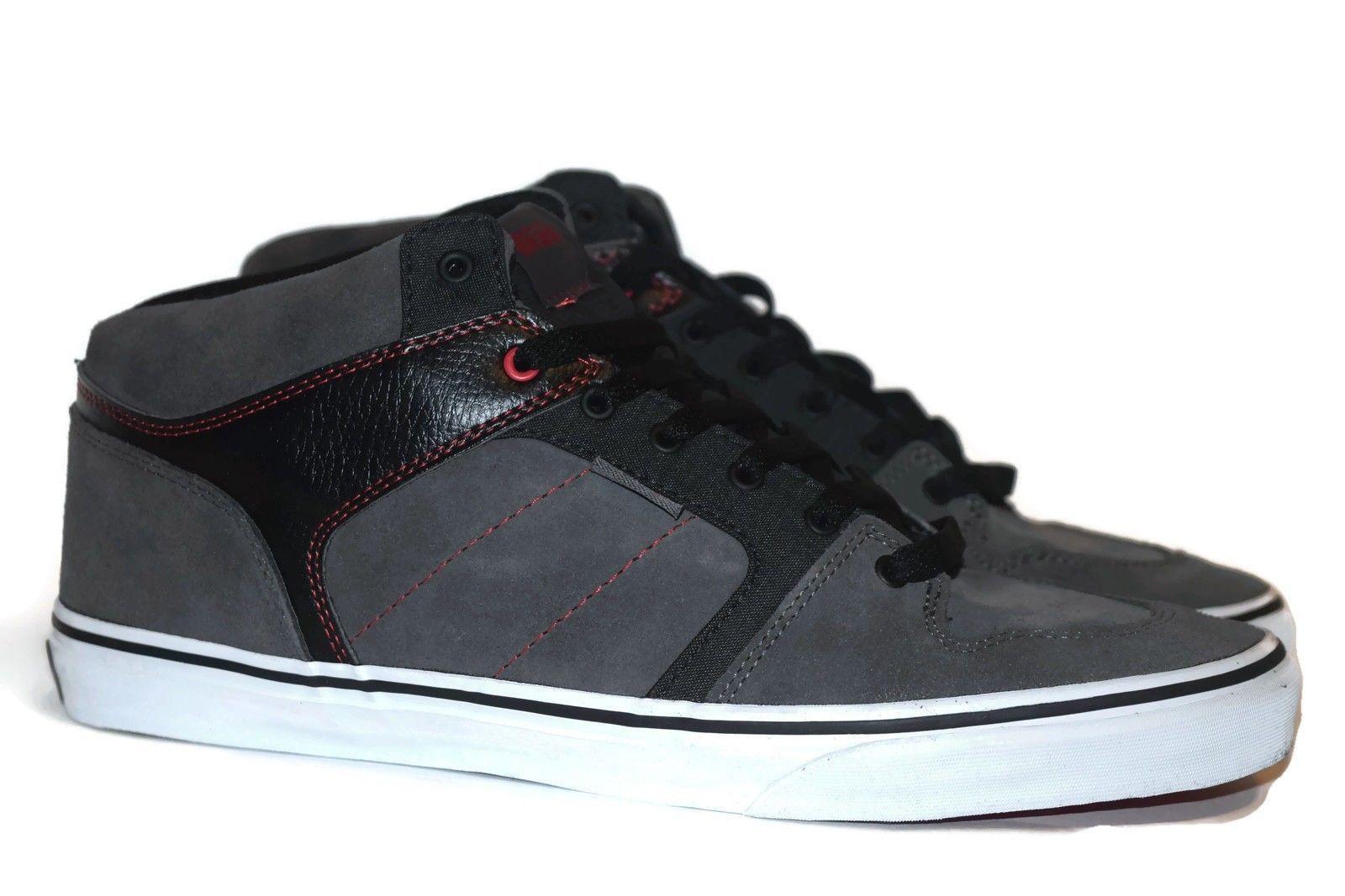 fc822d9840 VANS Ellis Mid (Red Stitch) Charcoal Black Casual Skate MEN S 6.5 WOMEN S 8  -  42.02