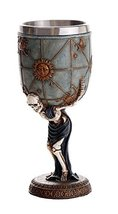 Skeleton Atlas Carrying the Weight of the Universe Skeleton Wine Goblet 7oz - $19.79