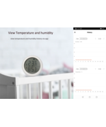 Smart Home Temperature And Humidity Sensor With LED Screen - $29.99