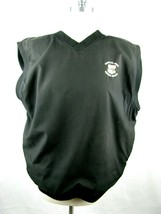 vtg 2000 Pebble Beach 100th US Open V Neck Lined Sweater Vest Sz L Embro... - $31.68