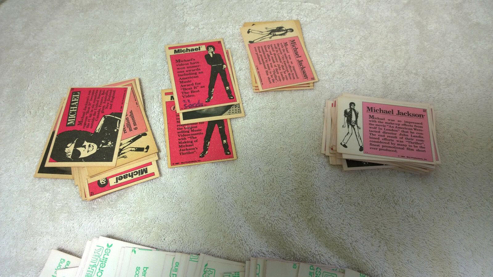 1984 Michael Jackson 2x Trading Card Sets Allens & Regina New Zealand + Wrapper
