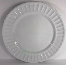 Gibson Designs Regalia Dinner Plates Set of 4 Embossed (White) - $39.59