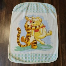 Winnie the Pooh Tigger Hugging Soft Fleece Baby Blanket Disney Plush Vin... - $39.59