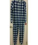 So Junior Blue Plaid Sleep Lounge One Piece Pajama Size XS - $24.75
