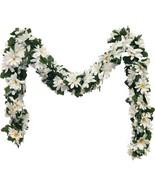 White Daisies Chain Garland 5 ft Silk Wedding Flowers Arch Gazebo Decor ... - $41.90