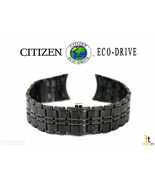Citizen Eco-Drive AR3015-53E 20mm Black Ion Plated Stainless Steel Watch... - $210.11
