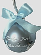 Kurt Adler- Blue-Baby's First Christmas-Glass Ornament - $9.99
